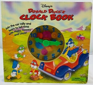 1997 Disney Donald Duck's Clock Book in Great Condition FREE SHIPPING