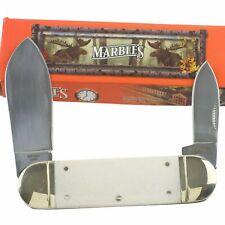 Marbles White Smooth Bone Sunfish Pocket Knife MR581