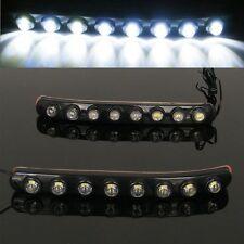8 LED Car Daytime Running Light Head Lamp DRL Daylight Super 12V White Strip