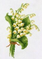 Lily Of The Valley Cross Stitch Kit May Lily - DIY Flower Embroidery Wall Decor
