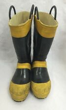SERVUS Firebreaker Fire Fighter Boots Various Sizes Black/Yellow See Listing