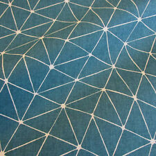 Stoff Baumwolle Japan Origami Grafik petrol weiß Trend 2019