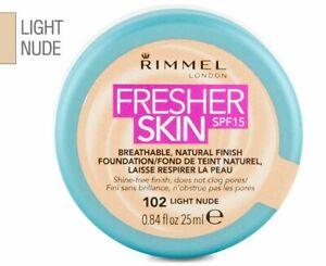 Rimmel Fresher Skin SPF 15 Breathable Natural Finish Foundation 102 LIGHT NUDE