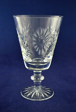 "Watford Crystal ""SUNBURST"" Wine Glass / Goblet – 15.1cms (6″) Tall"