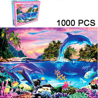 1000 Pieces Jigsaw Puzzle Educational Toy Scenery Sea Dolphin Educational Puzzle