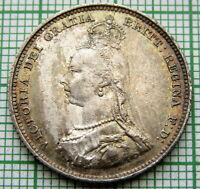 GREAT BRITAIN QUEEN VICTORIA 1887 JUBILEE SHILLING, SILVER TOP GRADE PATINA