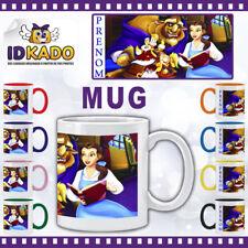 Mug (tasse) LA BELLE ET LA BETE personnalisé avec PRENOM -  réf: MB-224