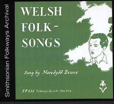 Meredydd Evans - Welsh Folk Songs [New CD]