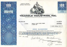 Triangle Industries, Inc. 1978 Stock Certificate