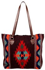 "New Southwestern Southwest Wool Bag Tote  Style Zapotec 15"" x 18"""