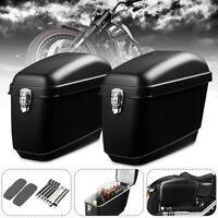 Motorcycle Side Box Luggage Tank Hard Case Saddle Bag Universal Matte Black !