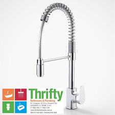 Dorf Viridian Pull Down Sink Mixer Gooseneck for Kitchen or Laundry