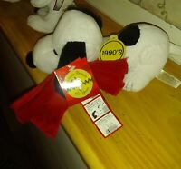 "Plush Snoopy collectible ""Celebrate Peanuts 60 Years""-'90's Decade, New w/Tags"