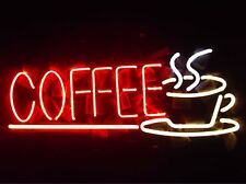 """New Coffee Cafe Neon Sign 17""""x8"""""""