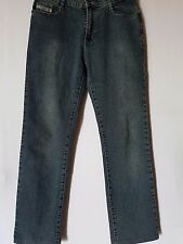 "WOMEN'S JEANS DIESEL STRAIGHT STRETCH SIZE 15 LEG 30"" FREE POSTAGE"