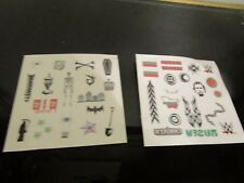 tattoo sheet for action figures