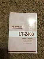 2002 Suzuki LT-Z400 ATV owners manual