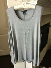 Joan Vass New York Gray Sleeveless Swing Top - Size 3X