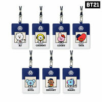 BTS BT21 Official Authentic Goods School Card Holder 7Characters By Monopoly