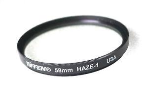 58mm Tiffen UV HAZE-1 Filter - PERFECT