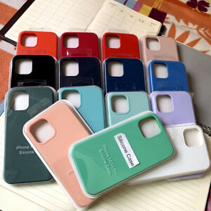 For iPhone13 12 11 Pro Max XS XR X 8 7 6S 6Plus SE Silicone Case Cover With Logo