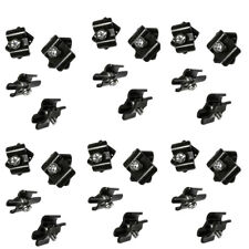 Set Of 100 Pcs Gloss Black Joiner Connector Clamps Gridwall Panel Retail Store
