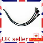 1 To 3 Way Splitter Sleeved 4-Pin PWM Connector Fan Extension Cable UK SELLER