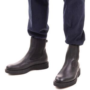 RRP €1015 SALVATORE FERRAGAMO Leather Chelsea Boots Mismatch Size L42 R42.5