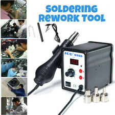 858d Soldering Rework Station Smd Iron Desoldering Hot Air Gun Tool With3 Nozzles