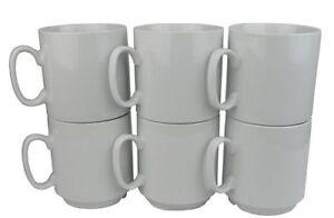 """Retsch Arzberg  Kaffeebecher """"Robert"""", Porzellan, stapelbar, weiß (6 Stück)"""