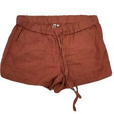 Kut From The Kloth Roxanne Orange Linen Shorts Size 10