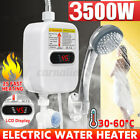 3500W Portable LCD Instant Hot Water Heater Boiler + Shower Nozzle Instant Hot