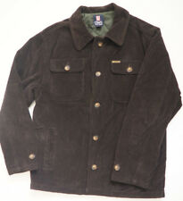 Ralph Lauren CHAPS Chocolate Brown Corduroy Quilt Lined Shirt / Jacket - Large