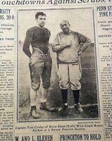 KNUTE ROCKNE Notre Dame Fighting Irish Last Football Season PHOTO 1930 Newspaper