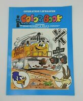 Vintage 1989 Train Safety Coloring Book Road Runner Wile E Coyote