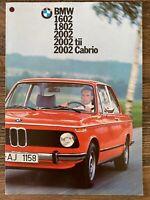 1975 BMW 1602 1802 2002 original British sales brochure (8 page)
