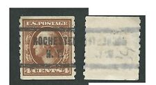 Scott 395, 4c Washington, p8 ½, VERTCoil, SWM, VF,used,Precancel,Rochester, N.Y.