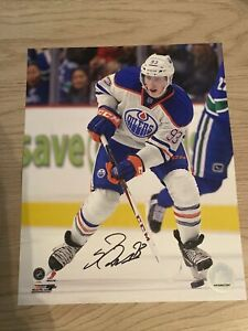 Ryan Nugent Hopkins Signed 8x10 Photo Oilers AUTHENTIC AUTOGRAPH NICE! Auto