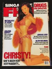 2001 Oct FHM Singapore adult magazine Christy Chung ,Asian contents , sexy 鍾麗緹