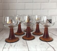 Roemer French / German Wine Glasses Amber Beehive Stemmed Glass Verres à vin