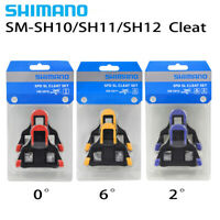 Shimano SM-SH10/11/12 Cleat Set 0/2/6° Float SPD-SL Road Bike Pedal Cleats