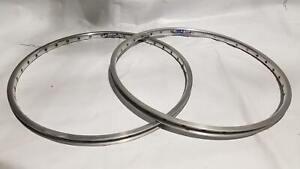 """Sun Mistral 20x1-1/8"""" Rims - Silver 32H (PAIR)"""
