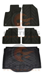 2013-2020 Buick Encore GM Front & Rear & Cargo All Weather Floor Mats Black