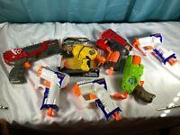 VTG Lot Of 7 Gun Toys third Ex-3 Elite, XC Shot, Mega Bigshock, Micro dart blast