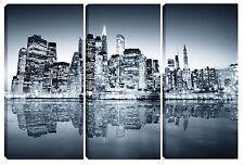Quadro moderno NEW YORK SKYLINE 3pz-60x90 arredo casa bar ufficio soggiorno tela