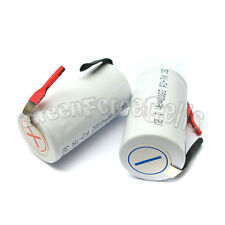 20 pcs SubC Sub C 2800mAh 1.2V NiCd Rechargeable Battery Cell with Tab White