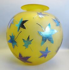 A Large & Original Australian Studio Glass Vase by Robert Wynne  c. 2000