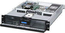 "2U LCD (4x5.25""+4xHDD Bay)Rackmount Chassis(2U-Redundant PSU OK!)(Door Case) NEW"