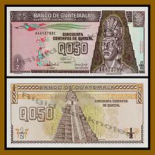 Guatemala 1/2 (Half .50) Quetzal, 1992 P-72 Unc