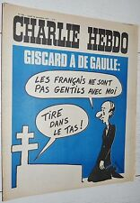 CHARLIE HEBDO N°209 18/11 1974 WOLINSKI CAVANNA CHORON REISER GEBE WILLEM CABU